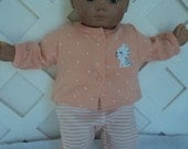 Bitty Baby Girl cute 4  pc. sweater ,  Pants  outfit  with a headband ,doll clothes