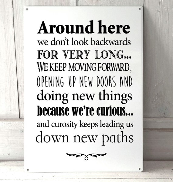 Disney Quote Plaques: Around Here Disney Inspired Quote A4 Metal Sign Plaque Wall