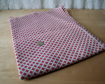 Vintage Feedsack Feed Sack Fabric Cotton Geometric Art Deco Dots