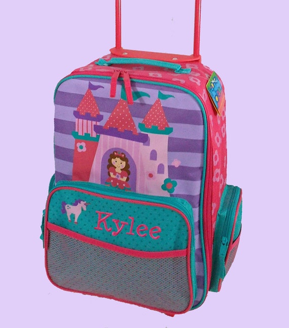 Personalized Child's Stephen Joseph Rolling Luggage PRINCESS CASTLE Themed for Children-No additional cost for the personalization.