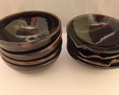 Reserved Listing for Carole G. -- a Set of 4 Tenmoku Bowls