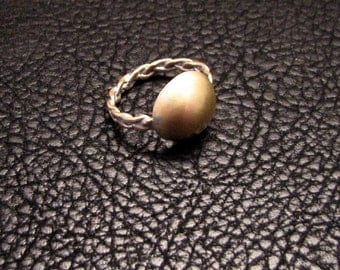 Ancient Inspired Ring, Dome ring, brass ring, greek or roman jewelry, braided ring, medieval