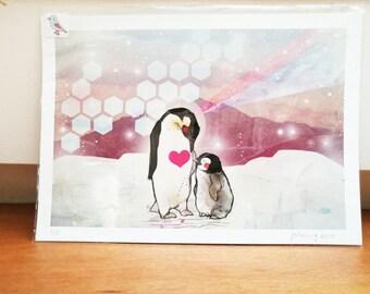 Together Penguins Fine Art Print - Gift for Children - Gift for Women - Gift for Men - Birthday Present - Animal Lovers -Home