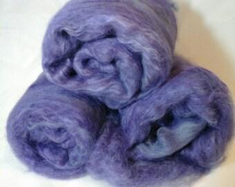 Suri Alpaca Batt, Purple Alpaca Batt, Hand Carded Batts, Luxury Spinning Fiber, 3.7oz