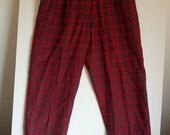 SALE Giorgio Sant Angelo plaid pants pant trousers slacks suit 14 tartan Bulgarian punk boho grunge