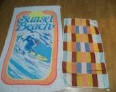 one  beach towel