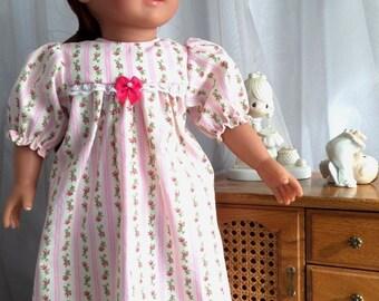 18 Inch Doll Clothes / Doll Nightgown / Nightgown / Doll Sleepwear / 18 Inch Doll Clothing / Doll Accessories / American Girl Doll - 6003