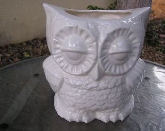 Glazed Tootsie Pop Owl Desk Vase