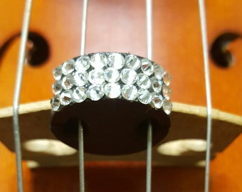 Violin - Viola mute with Swarowski Crystals! Orchestra instrument mutes - Custom Design sparkly crystal string mute - gift  for violinist
