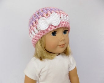 Striped Doll Hat, Doll Accessories, 18 Inch Doll Clothes