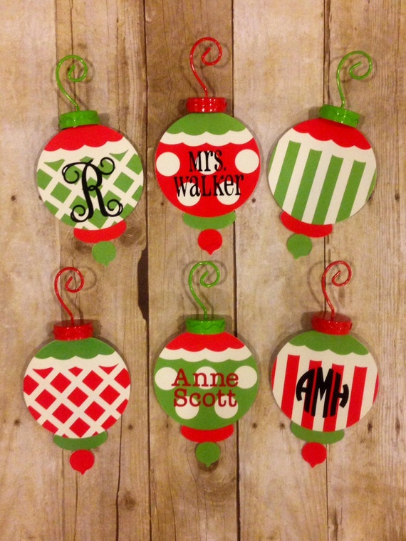 Items similar to personalized metal christmas ornaments