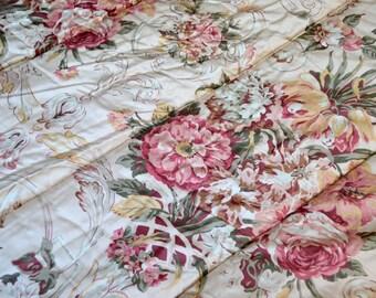 Ralph Lauren Comforter - Guinevere Floral Sateen Bedspread - Queen Size