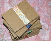 """A1 Kraft Cards ... lightweight chipboard 3.5"""" x 5"""" blank cards invitations thank you notes greetings announcements small cards rustic brown"""