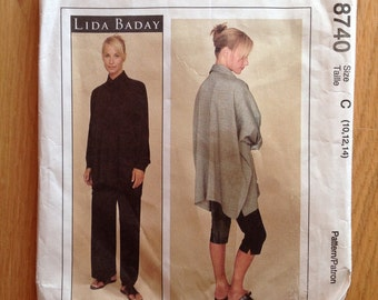 McCall's 8740 Misses' Lida Baday Shirt, Pants and Leggings size 10-12