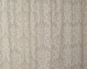 "TWO 50"" WIDE curtain panels drapes traditions damask cloud linen"
