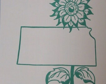 A Sample of Kansas/Counted Cross Stitch Pattern by Creative Keepsakes/1983/State Bird, Flag, Capital, Flower and More