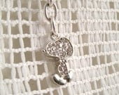 Snoopy Rhinestone Clip Spring Swivel Clasp  for Back pack Purse key ring or anything you want to latch it to