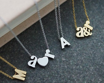 Personalized Letter Necklace, initial Necklace, Dainty letter necklace, monogram jewelry, Bridesmaids gift Weddings Christmas gift