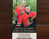 Baseball Football or Hockey Save the Date Tickets + FREE Custom Monogram Design