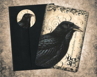 Halloween, Raven, Halloween Cards, Stickers, Crow, Raven Cards, Greeting Cards