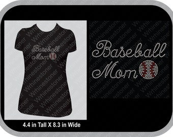 Baseball Mom Rhinestone T-Shirt