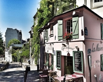 La Maison Rose - Limited Edition Fine Art Photograph, Montmartre, Paris, Cafe, Wall Art, Home Decor