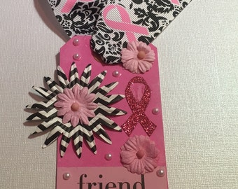FRIEND Breast Cancer Tag or Bookmark