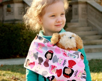 Baby Doll Sling Toy Pouch Style Doll Carrier - Princess Power - FAST SHIPPING
