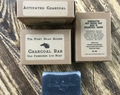 Palm Free Activated Charcoal Handcrafted Old Fashioned Lye Soap 4.5oz Bar Palm Free