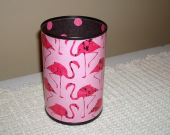 Black and Pink Flamingo Desk Accessories - Pencil Holder - Pencil Cup - Desk Organization - Office Decor - Dorm Decor - 939