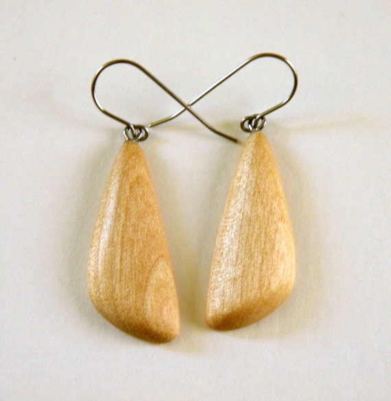 Items similar to reclaimed alder wood hand carved earrings for Reclaimed wood bend oregon