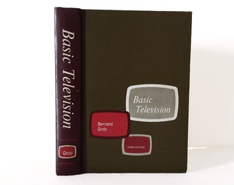 Hollow Book Safe Basic Television TV Repair Cloth Bound vintage Secret Compartment Keepsake Box Hidden Security Box