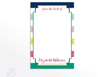 From the Desk of Notepad, Colorful and Cute Personalized Notepad