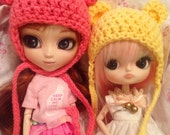 Cute Crocheted Bear Ears Hat for Pullip Dolls