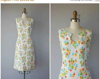 25% OFF SALE... Vintage 60s Dress | 1960s Dress | 60s Day Dress | 60s Sheath Dress | Cotton Pique 60s Shift Dress