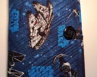Quilted Star Wars Mini Legal Notebook Holder