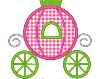 Cinderella Princess Carriage Applique Design