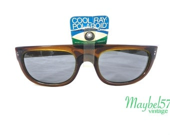 Vintage Men's 60s Cool Ray Sunglasses, Dead Stock 1960s Polaroid sunglasses