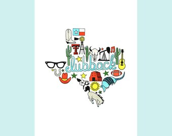 Lubbock Texas Art Print