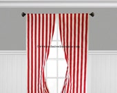 Red Stripe Curtain Panels Red and White Curtains Drapery Window Treatments Set Pair Stripe Modern Nautical Home Decor