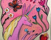 Pink Unicorn Art Painting Pop Art
