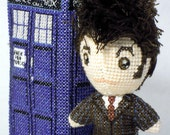 The Tenth Doctor Itty Bitty Doll 3D Cross Stitch Sewing Pattern PDF