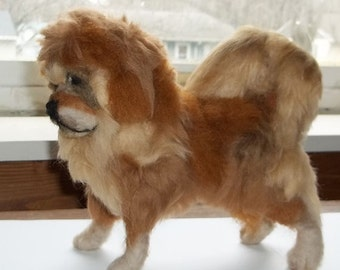 Tibetan Mastiff Felted Figure
