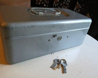 Vintage CCC Top Products Metal Lock Box with Key