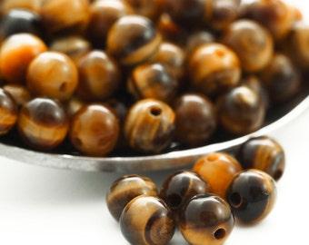 15 - Grade A 4mm Round Tigereye Beads - 100% Guaranteed Satisfaction