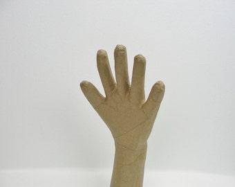 Life size paper mache hand, creepy hand, jewelry display