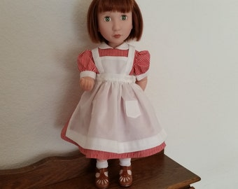 Dress with apron for 16 inch doll