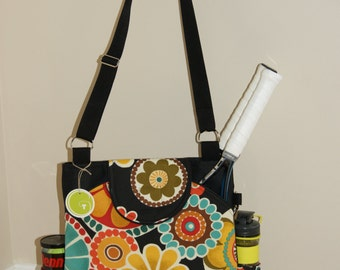 Large Tennis Bag with rounded Pockets.Made to order!