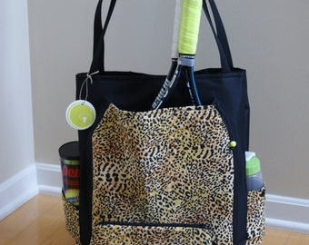 Large Tennis Bag and Accessory Bag. Made to Order !