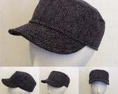 Wool Herringbone cap, unisex. Free shipping in the US.